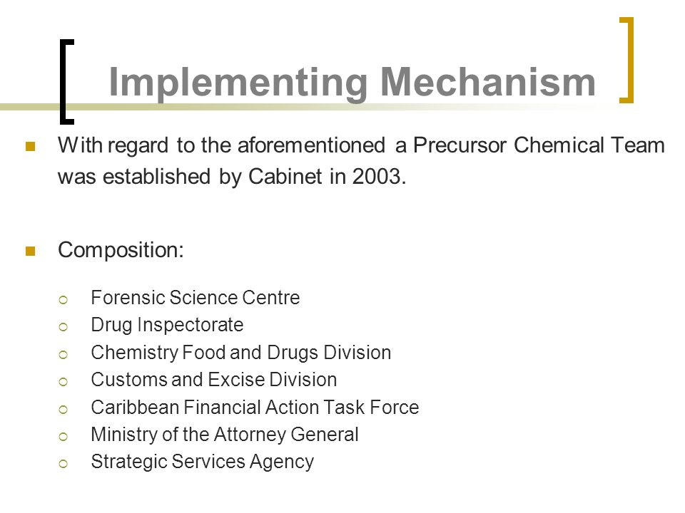 Implementing Mechanism