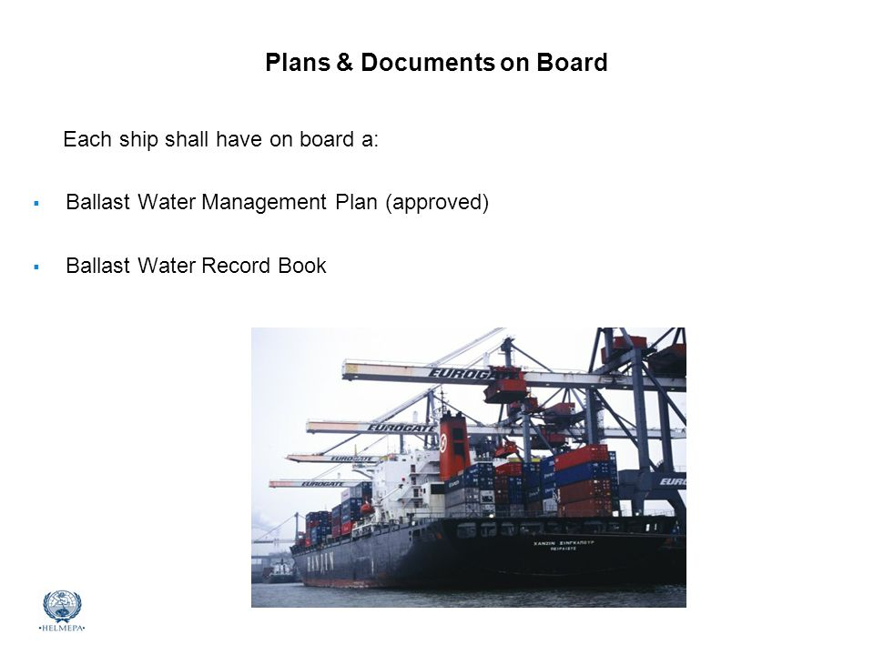 Plans & Documents on Board