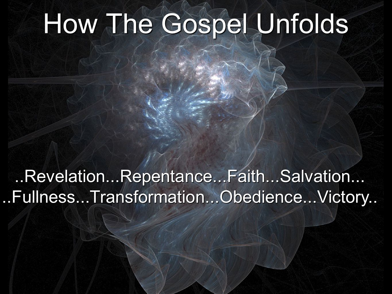 How The Gospel Unfolds ..Revelation...Repentance...Faith...Salvation...