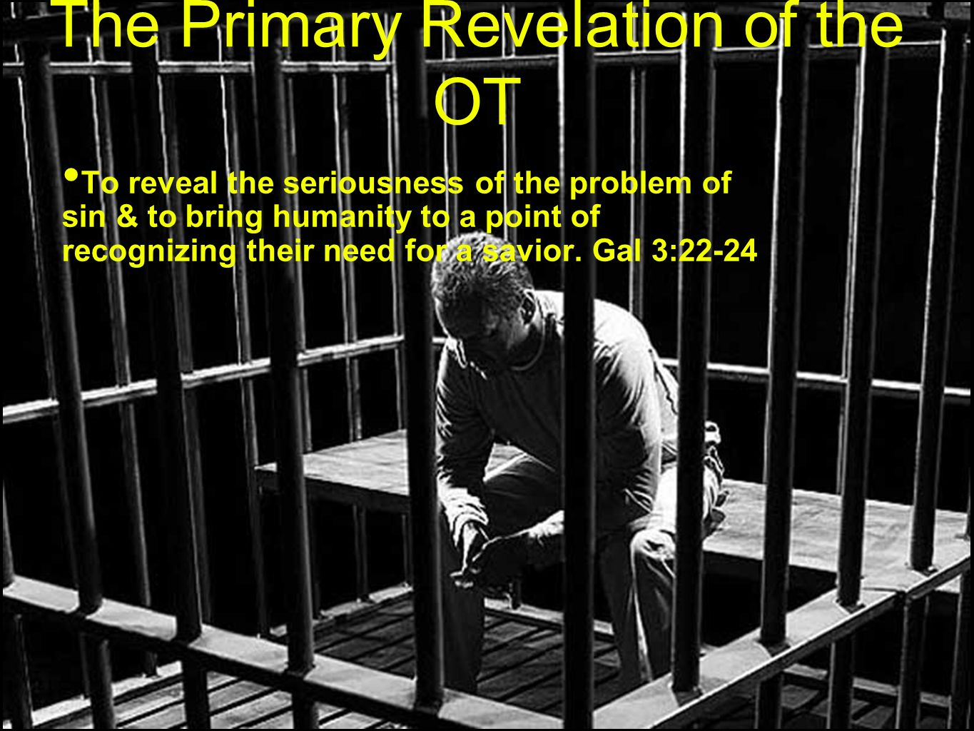 The Primary Revelation of the OT