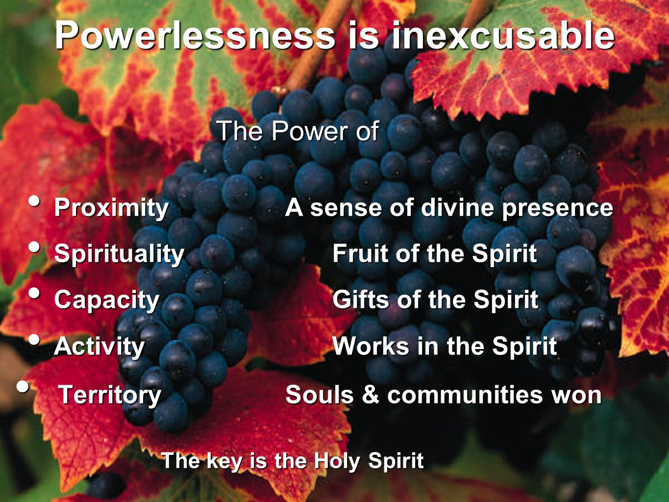 Powerlessness is inexcusable