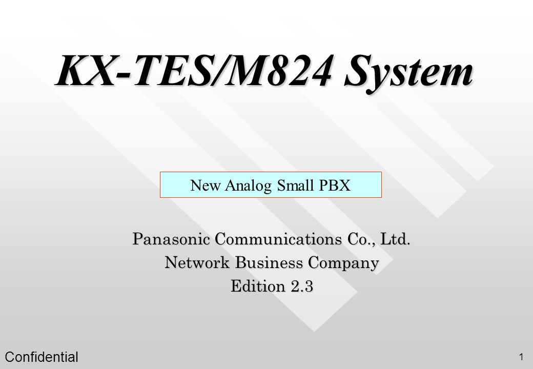KX-TES/M824 System New Analog Small PBX
