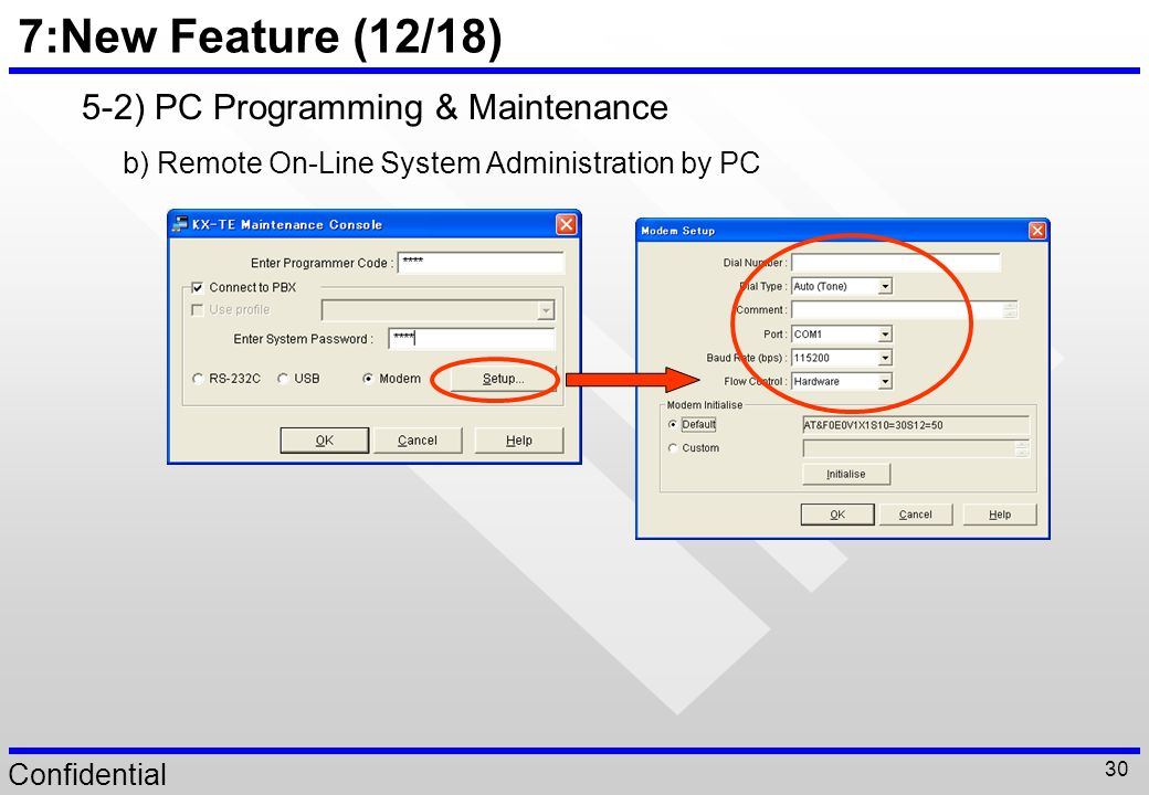 7:New Feature (12/18) 5-2) PC Programming & Maintenance