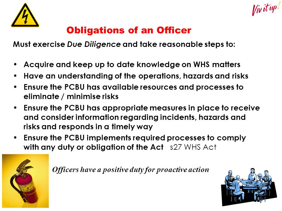 Obligations of an Officer