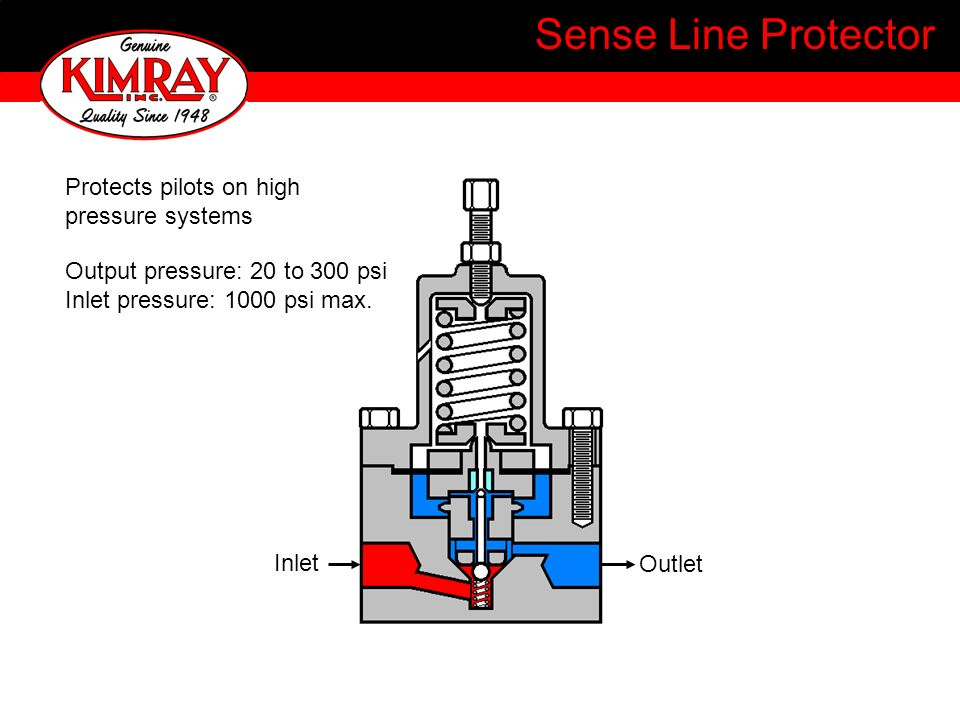 Sense Line Protector Protects pilots on high pressure systems