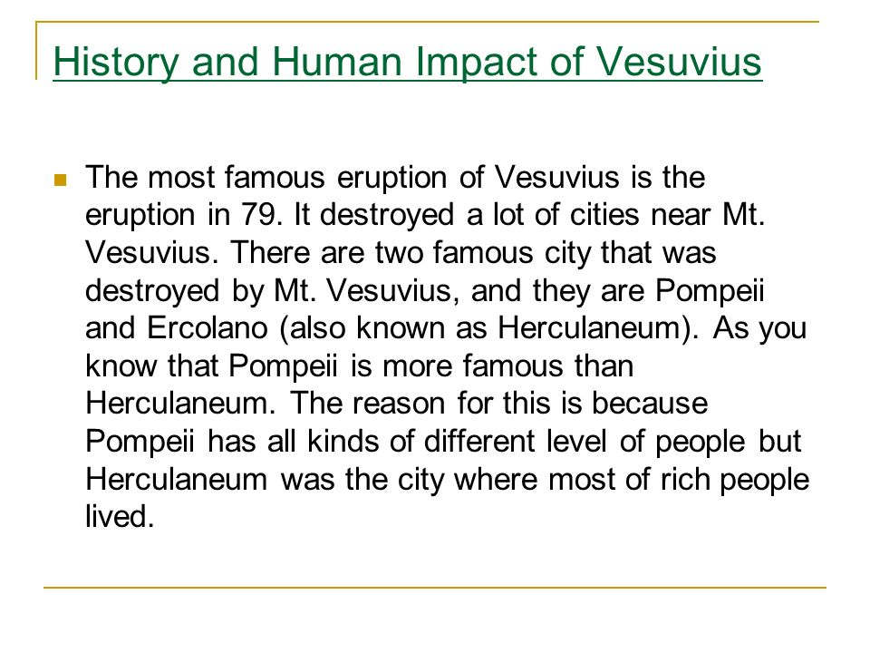 History and Human Impact of Vesuvius