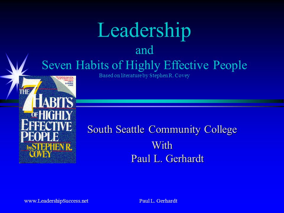South Seattle Community College With Paul L. Gerhardt