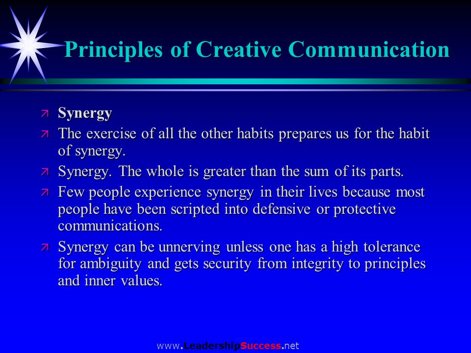Principles of Creative Communication