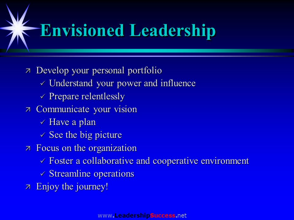 Envisioned Leadership