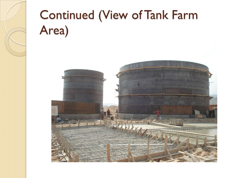 Continued (View of Tank Farm Area)
