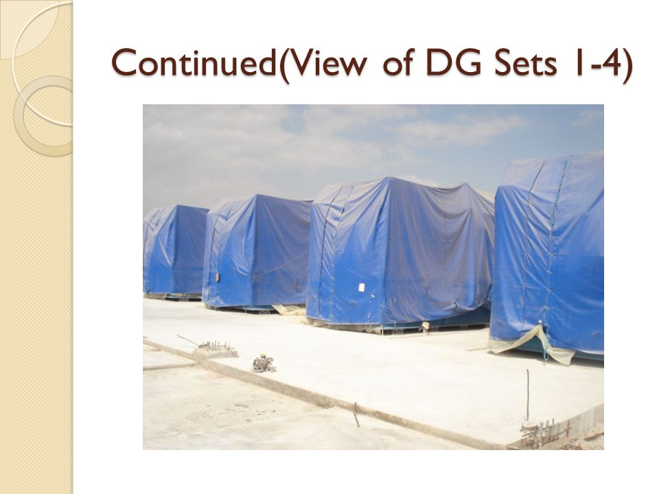 Continued(View of DG Sets 1-4)
