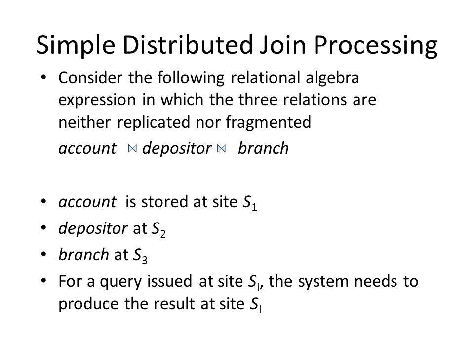 Simple Distributed Join Processing