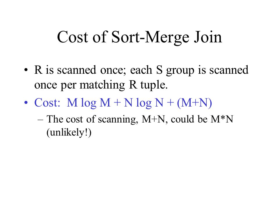 Cost of Sort-Merge Join