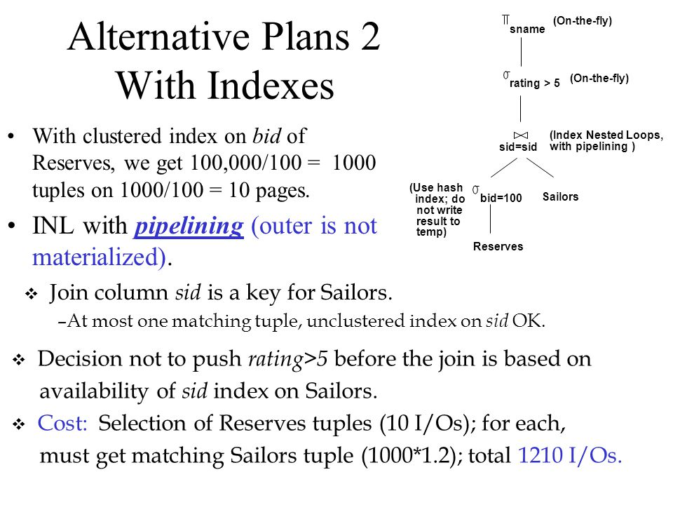 Alternative Plans 2 With Indexes