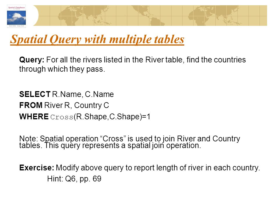 Spatial Query with multiple tables