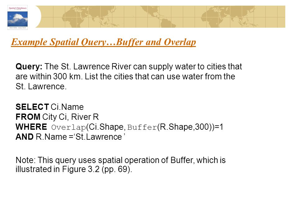 Example Spatial Query…Buffer and Overlap