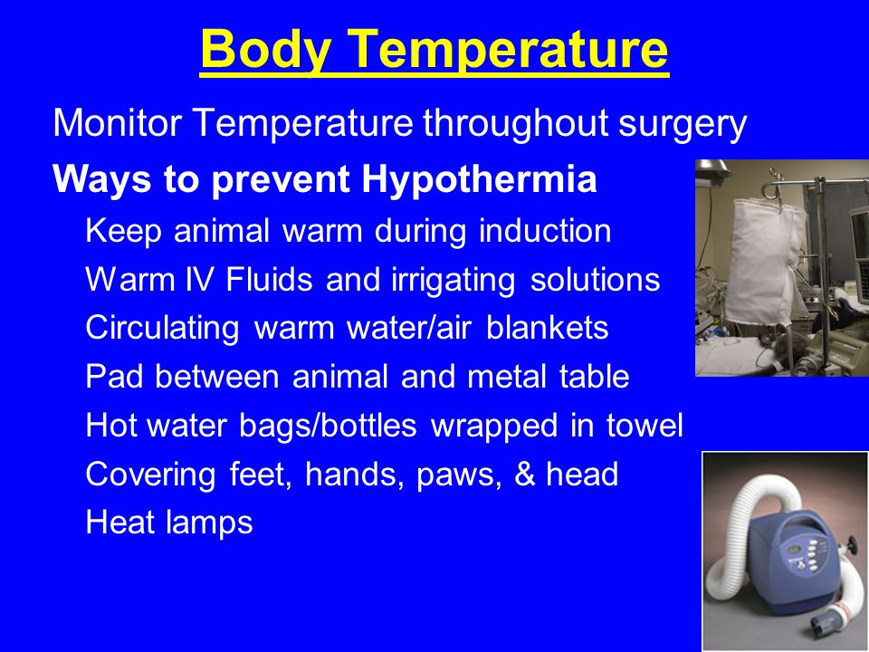 Body Temperature Monitor Temperature throughout surgery