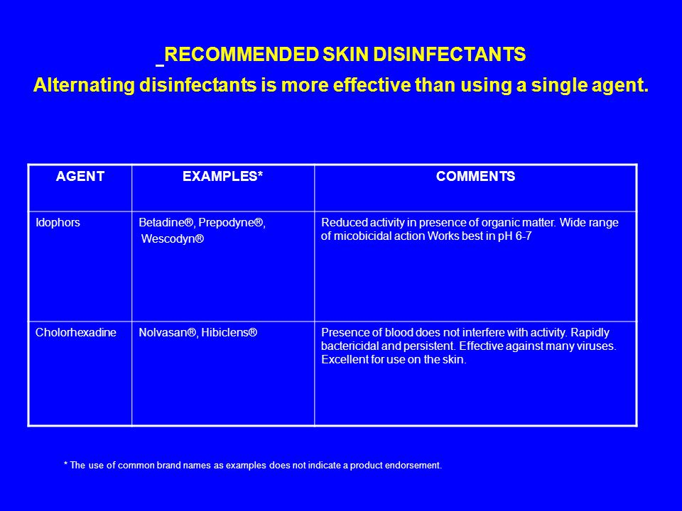 Alternating disinfectants is more effective than using a single agent.