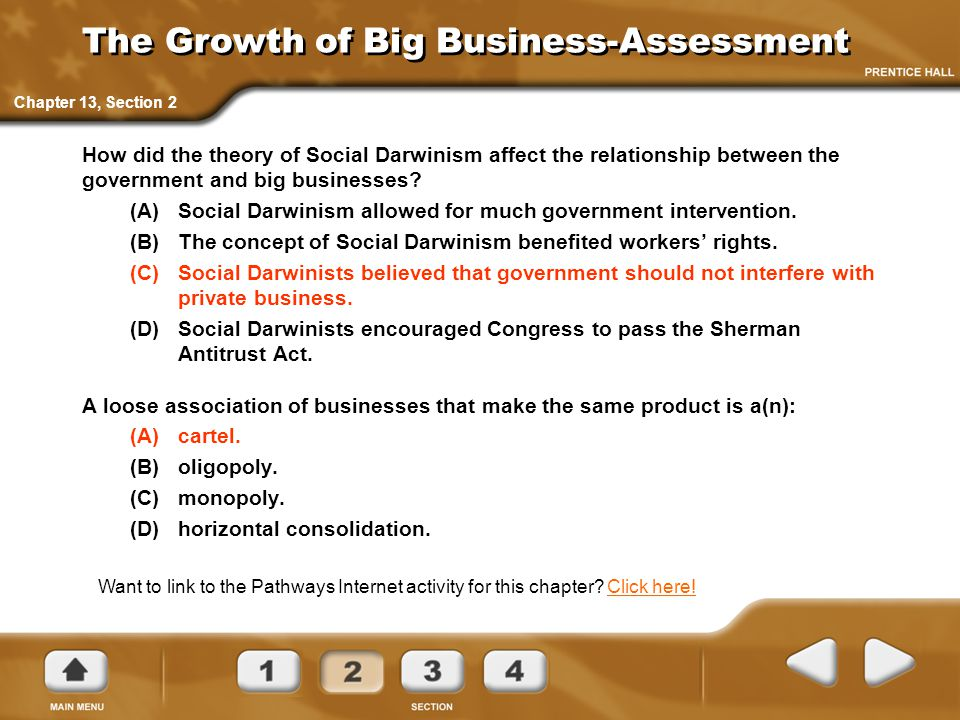 The Growth of Big Business-Assessment