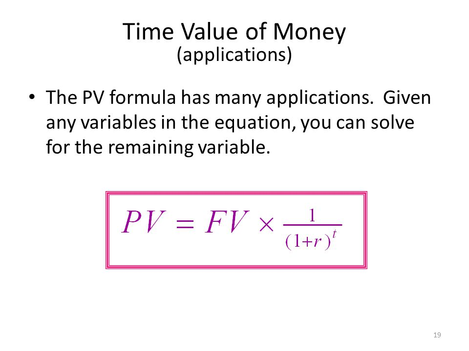 Time Value of Money (applications)