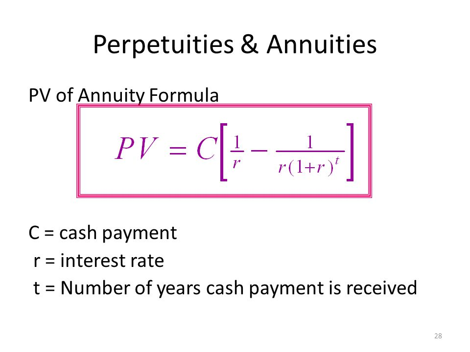 present value annuity formula