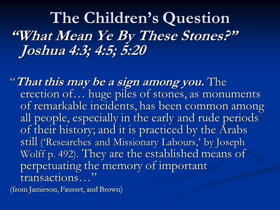 The Children's Question