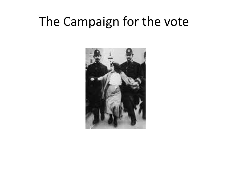 The Campaign for the vote