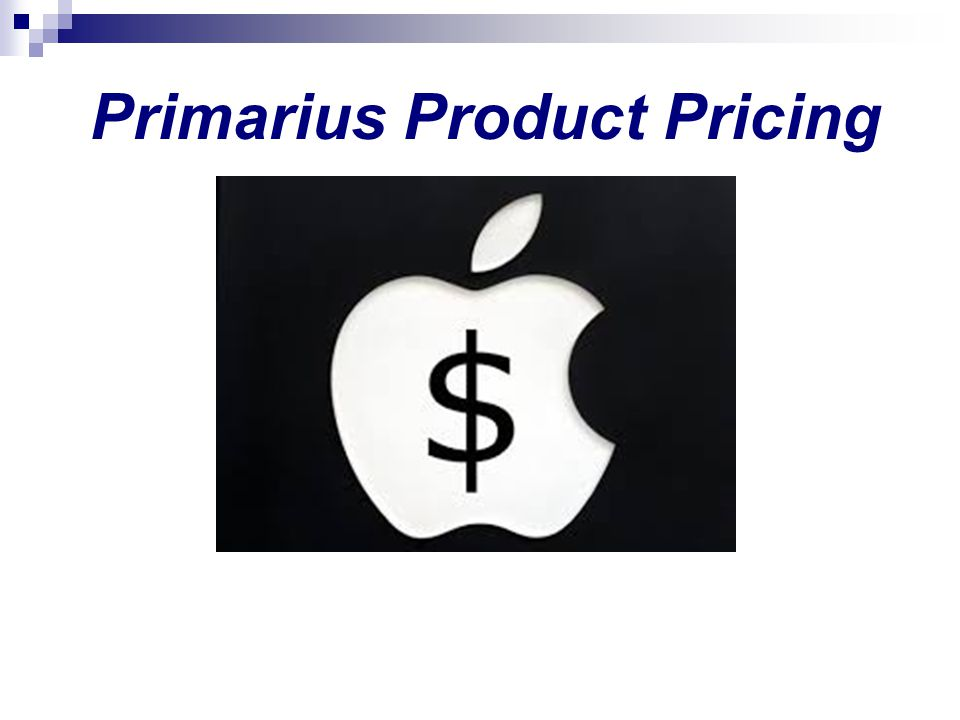Primarius Product Pricing
