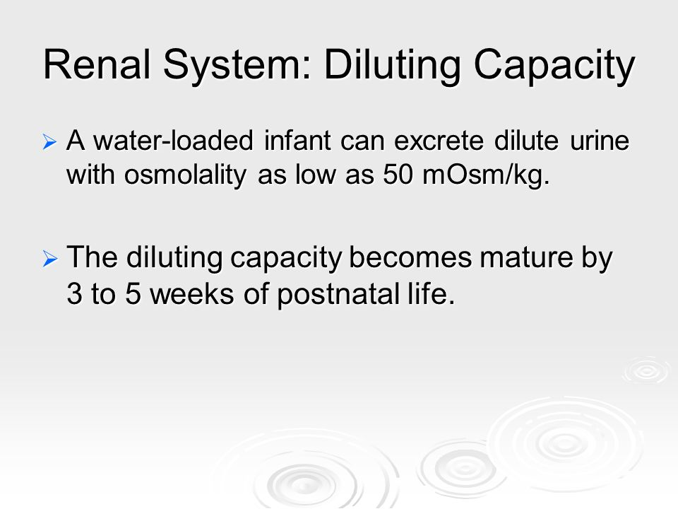 Renal System: Diluting Capacity