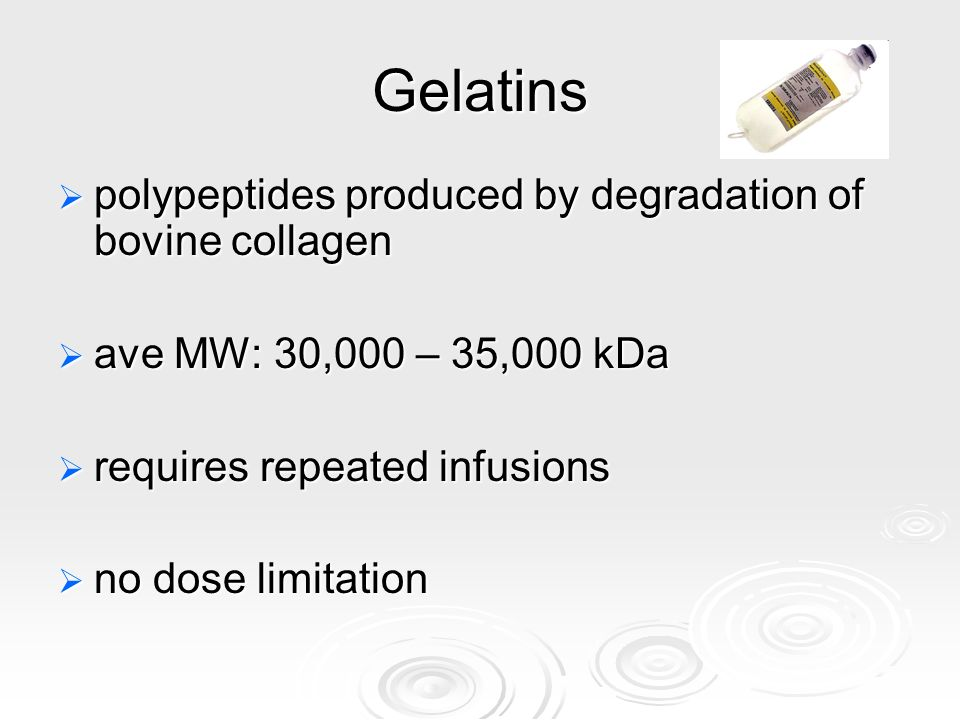 Gelatins polypeptides produced by degradation of bovine collagen