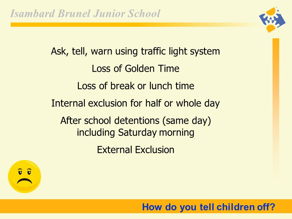 Ask, tell, warn using traffic light system Loss of Golden Time