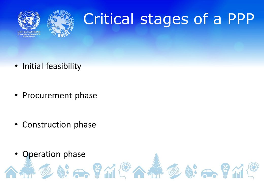 Critical stages of a PPP