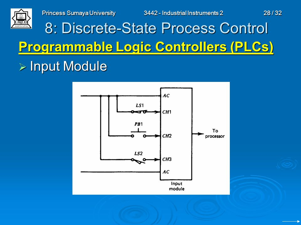 3442 Industrial Instruments 2 Chapter 8 Discrete State Process