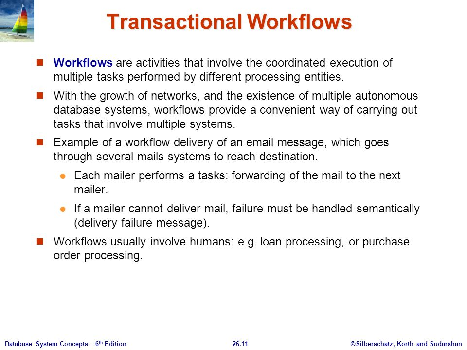 Transactional Workflows