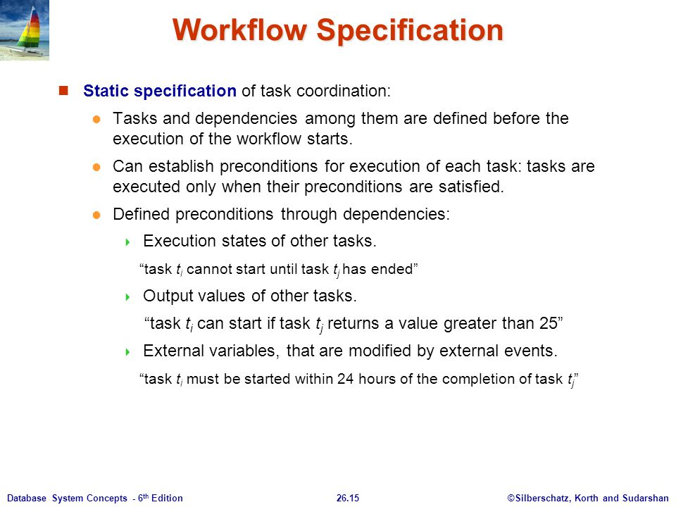 Workflow Specification