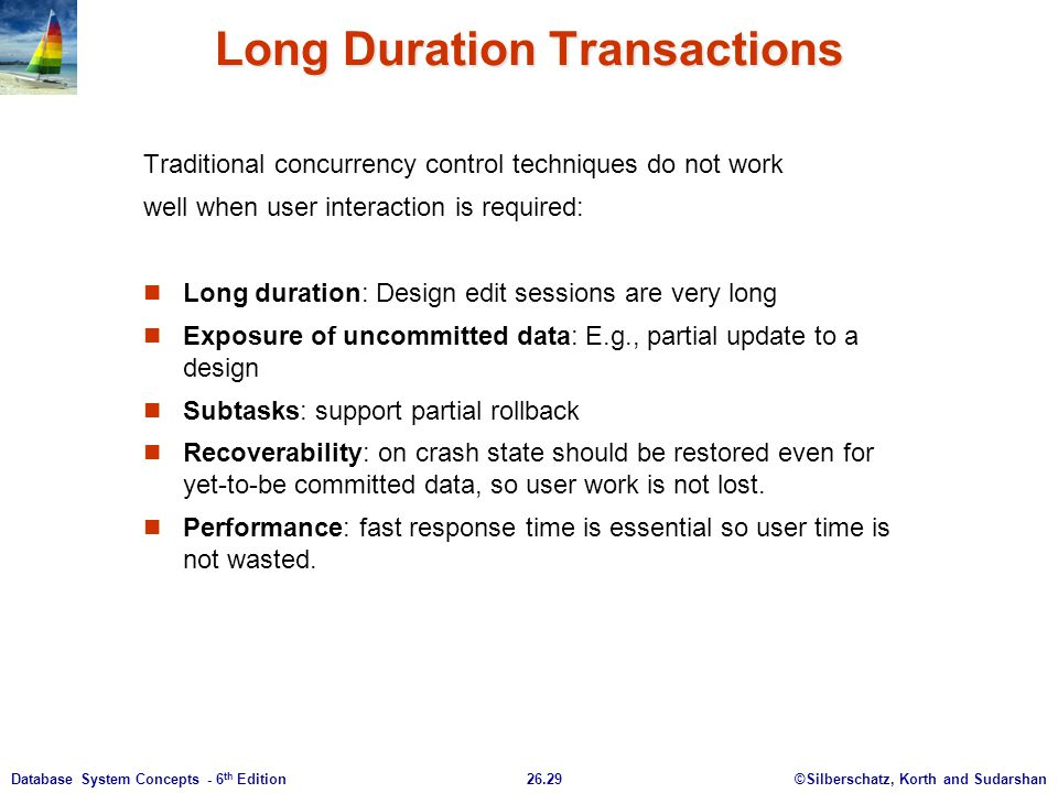 Long Duration Transactions