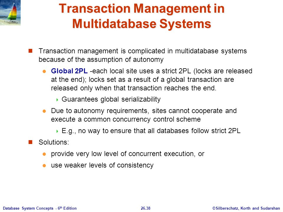 Transaction Management in Multidatabase Systems