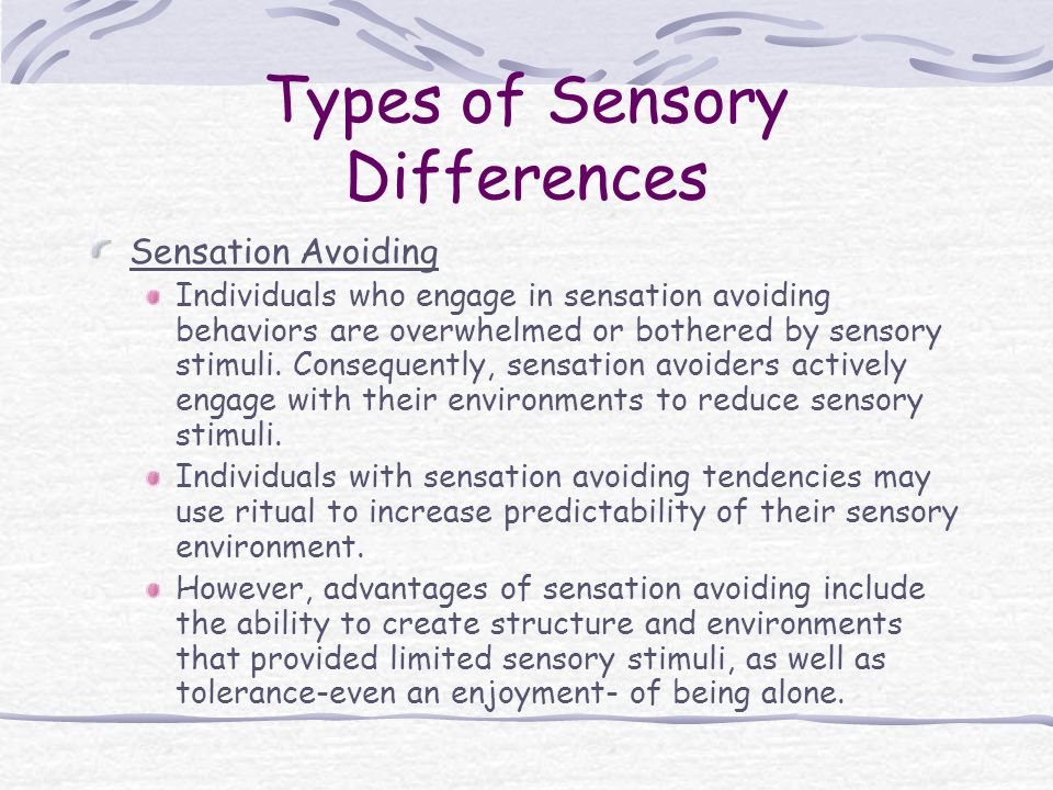 Types of Sensory Differences
