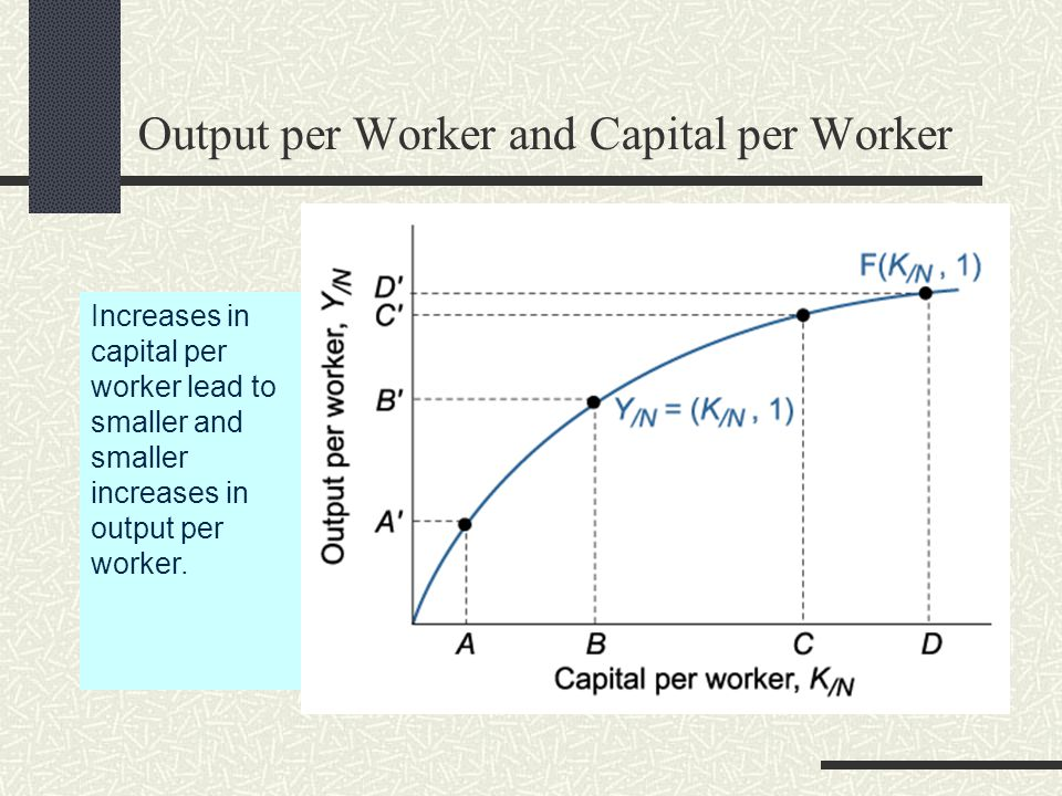 Output per Worker and Capital per Worker