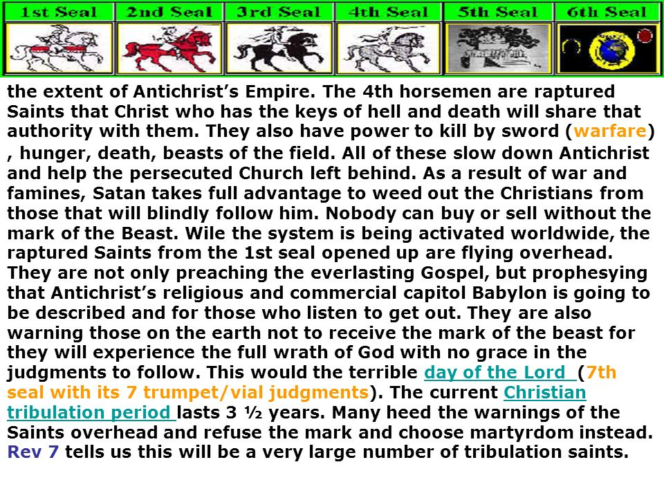 the extent of Antichrist's Empire