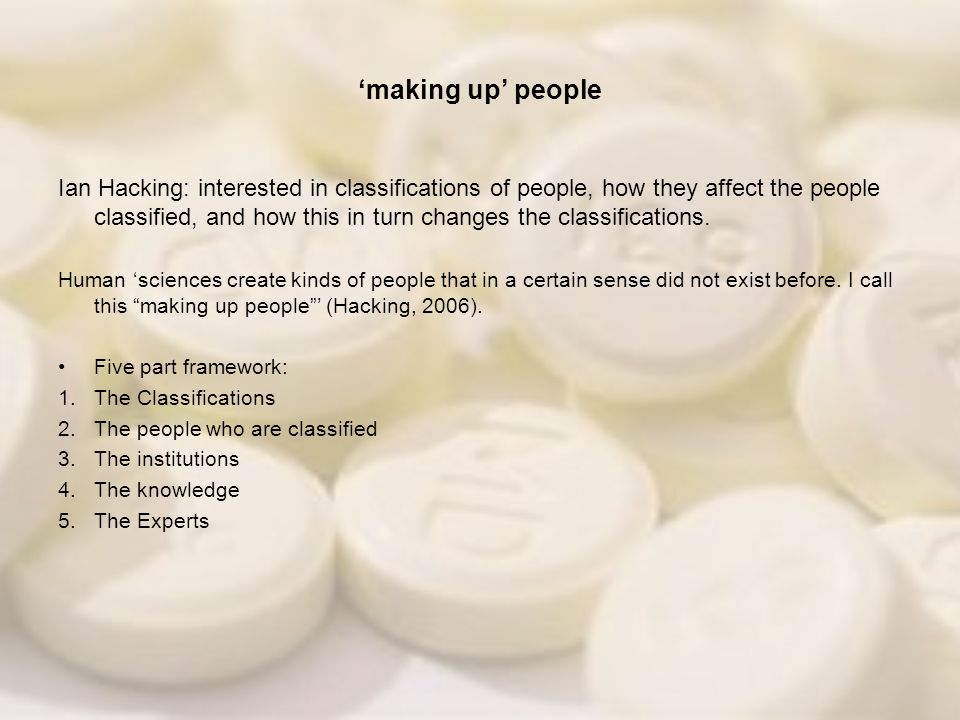 'making up' people