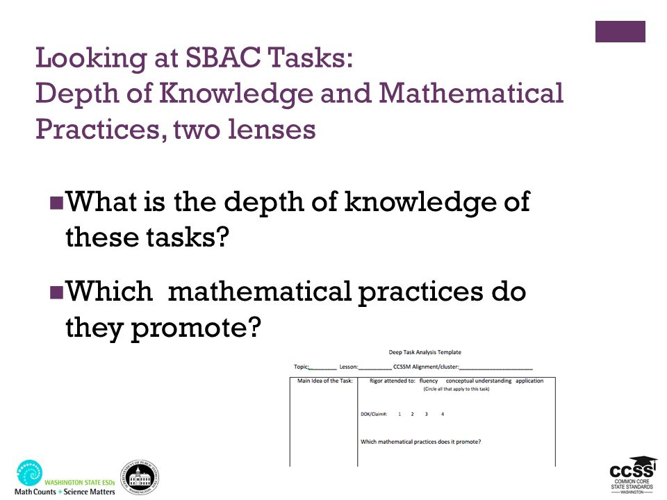 What is the depth of knowledge of these tasks