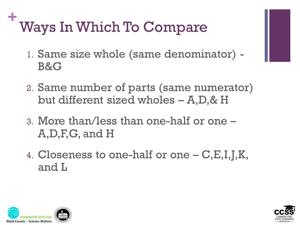 Ways In Which To Compare