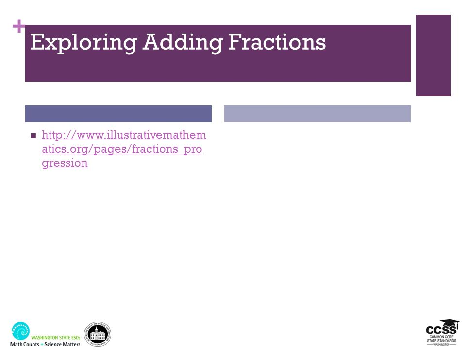 Exploring Adding Fractions
