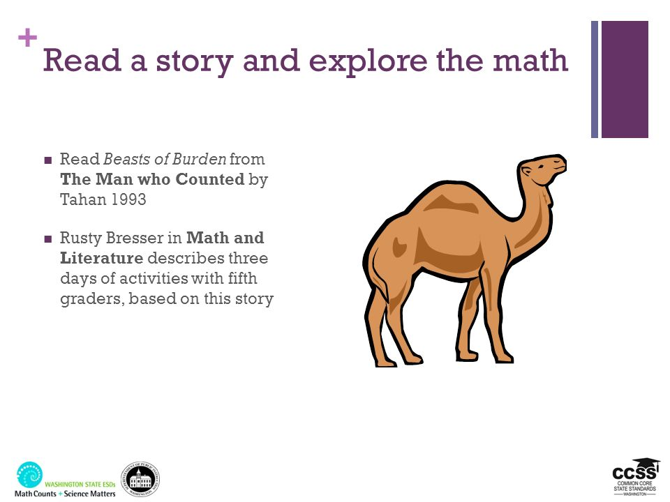 Read a story and explore the math
