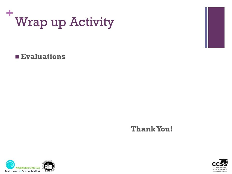 Wrap up Activity Evaluations Thank You! 3/25/2017 Handout: