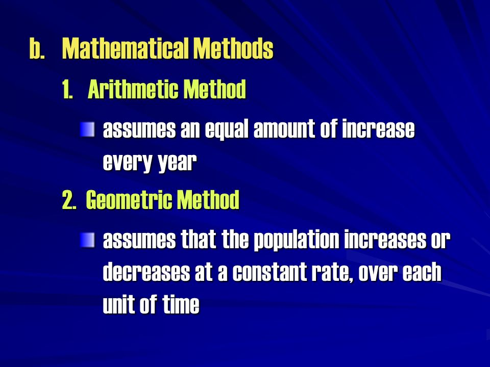 b. Mathematical Methods