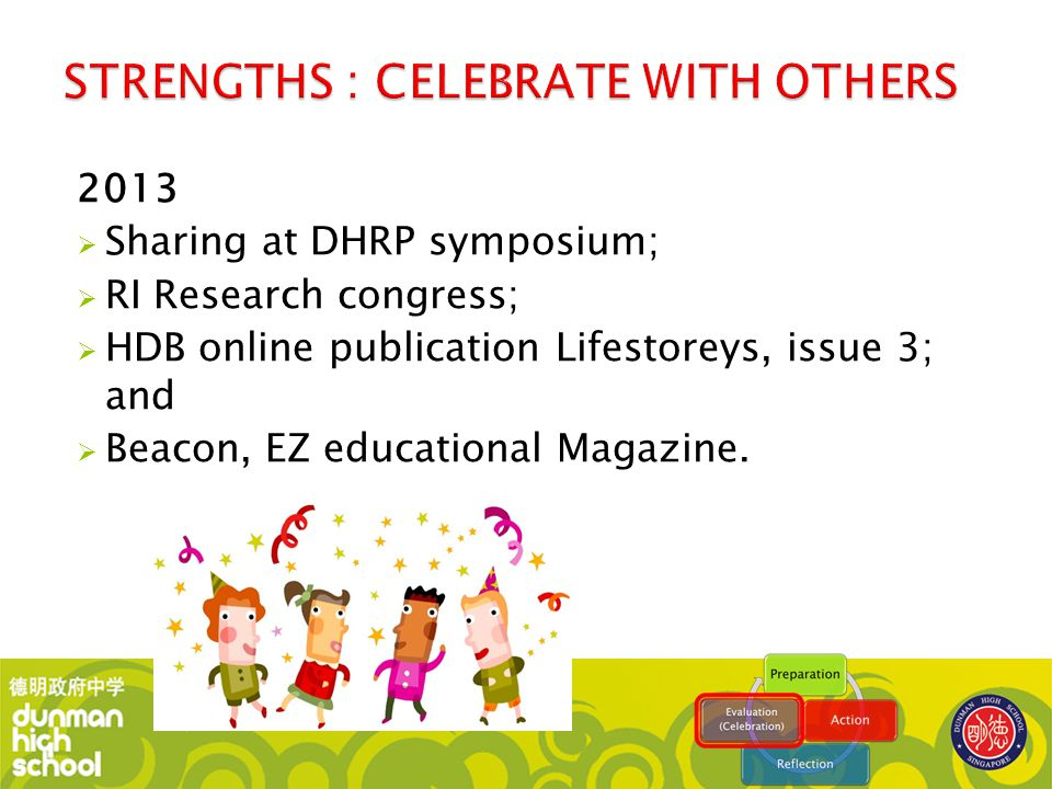 STRENGTHS : CELEBRATE WITH OTHERS