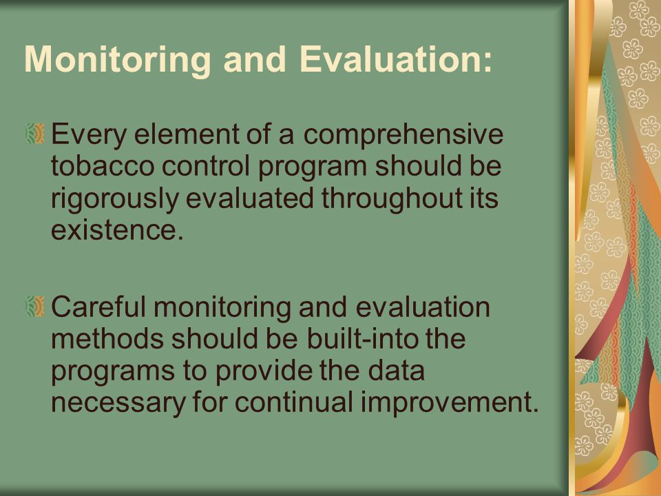 Monitoring and Evaluation: