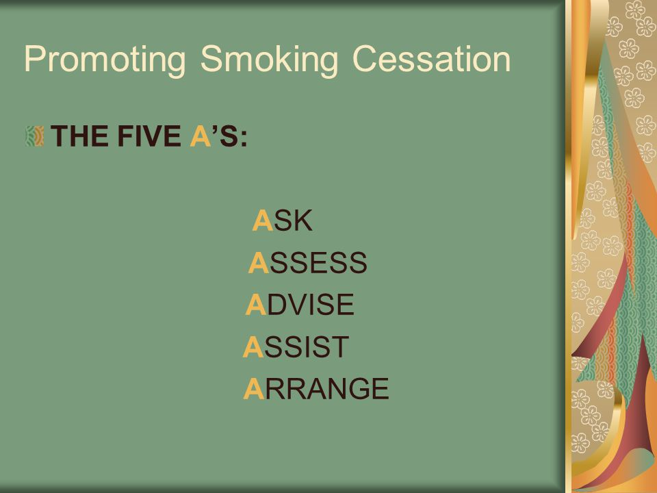 Promoting Smoking Cessation